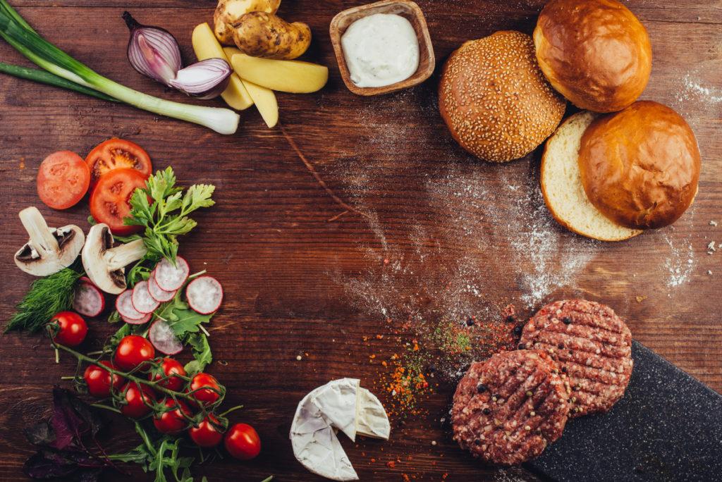 ingrédients hamburger maison