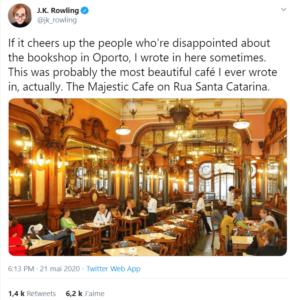 Twitter JK Rowling Majestic café