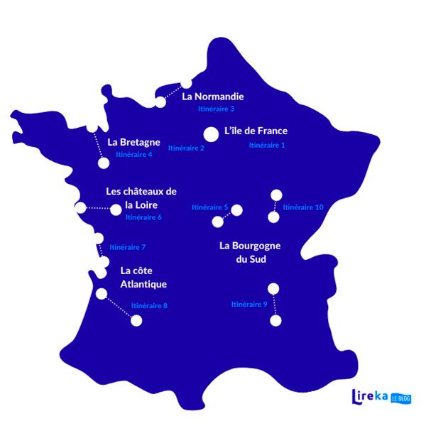 carte de france itinéraire