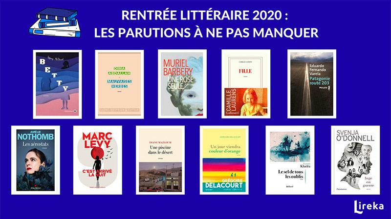 Les sorties littéraires de la rentrée littéraire 2020