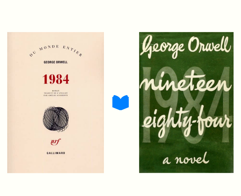 1984 George Orwell page de couverture
