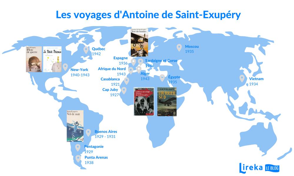 Les voyages d'Antoine de Saint Exupéry