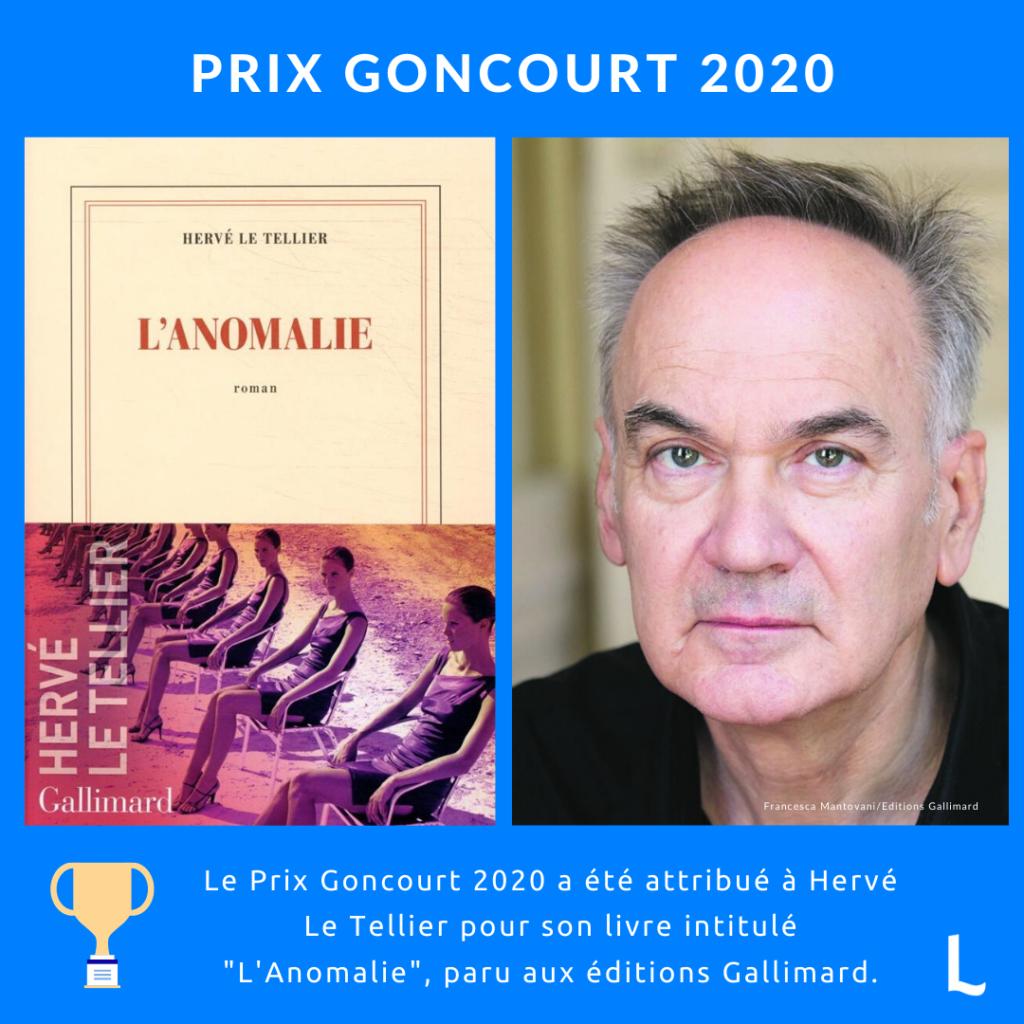 L'Anomalie de Hervé Le Tellier : prix Goncourt 2020