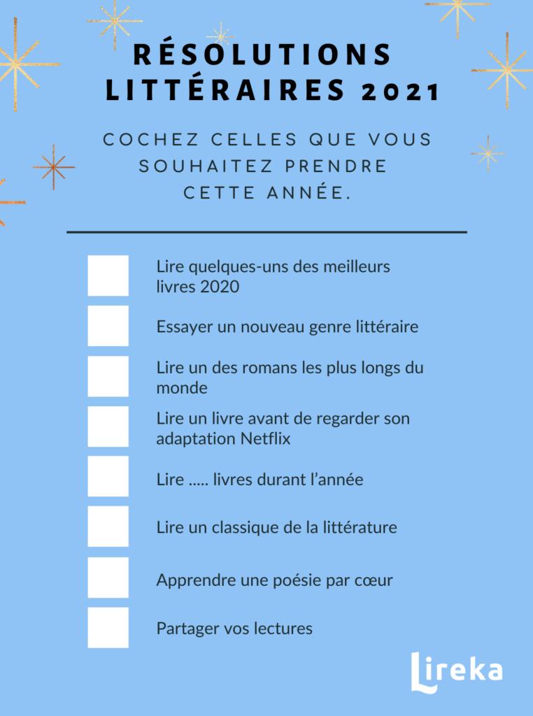 Bonnes résolutions littéraires 2021