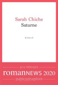 Saturne de Sarah Chiche : meilleur livre 2020