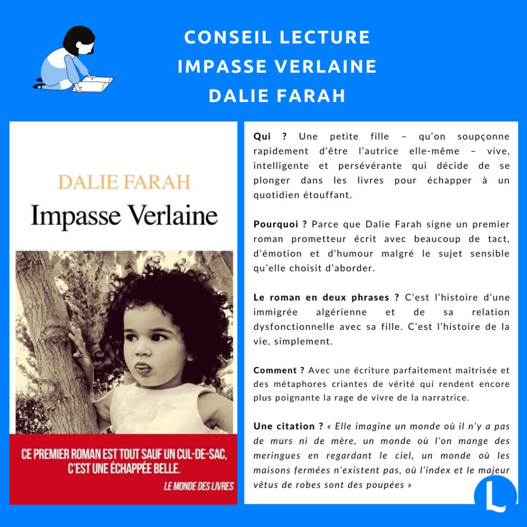 Dalie Farah : Impasse Verlaine