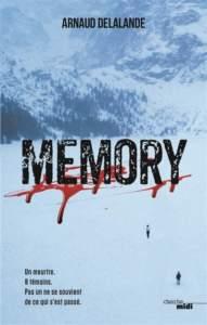 Memory d'Arnaud Delalande : meilleur roman policier 2021