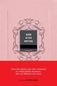 burn after writing : livre développement personnel 2021