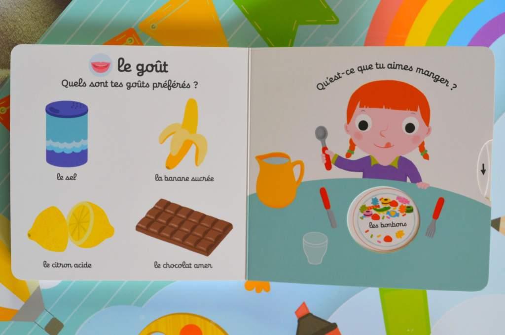 livre pour bébé : imagier des cinq sens